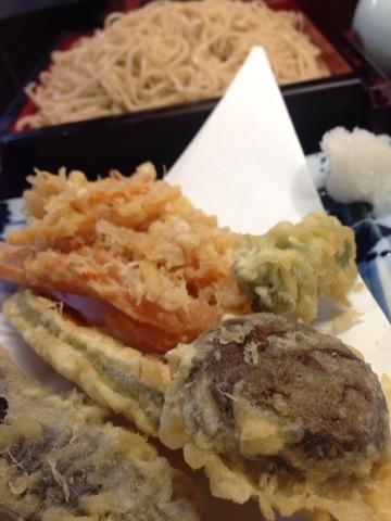 精進天ぷらとおそばです