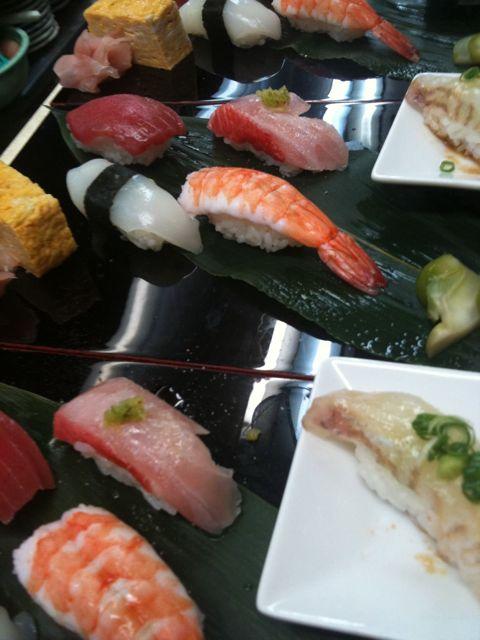 ランチのそばと寿司