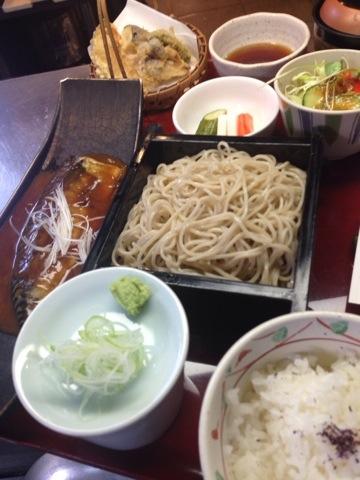 鯖の味噌煮と野菜天ぷら