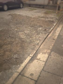 駐車場の段差