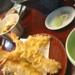 ランチの天ぷらそば