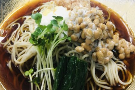 辛味大根と納豆